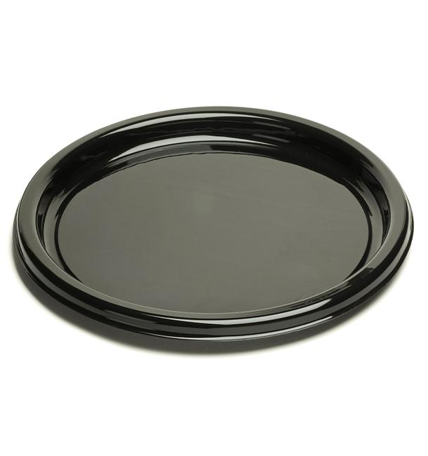 Plato Reutilizable PET Redondo Negro 23 cm (25 Uds)