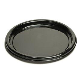 Plato Reutilizable PET Redondo Negro 26 cm (25 Uds)