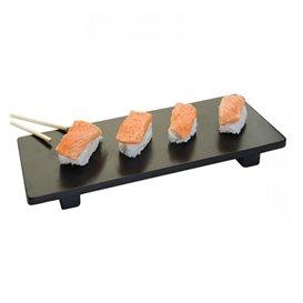 Bandeja de Bambú Negra para Sushi 50x23x2,5cm (10 Uds)