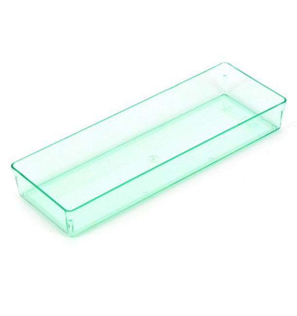 "Bandeja Rectangular ""Water Green"" 13,1x4,6 cm (12 Uds)"