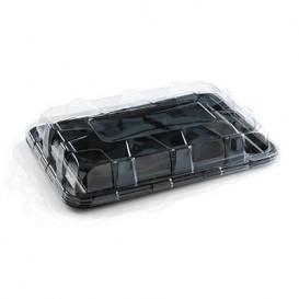 Bandeja Plastico Catering Rectang. Negra 35X24 cm (10 Uds)