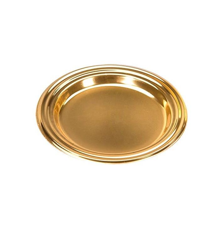 Mini Plato de Plastico Postre Redondo Oro 8 cm (125 Uds)