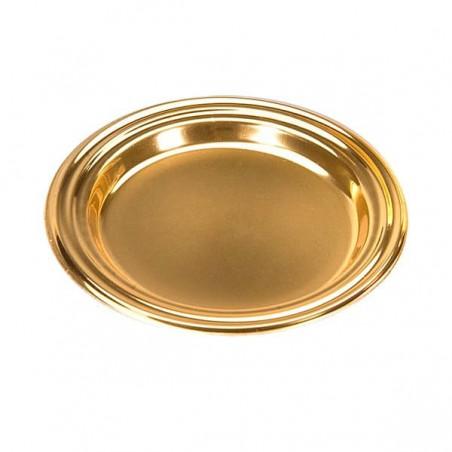 Mini Plato de Plastico para Postre Redondo Oro 8 cm (125 Uds)