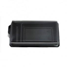 Envase para Sushi Negro 148x78 mm (10 Uds)