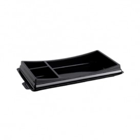 Envase para Sushi Negro 172x101mm (10 Uds)