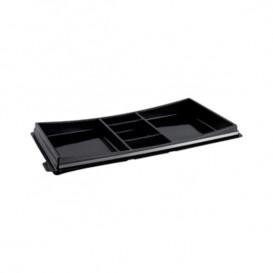 Envase para Sushi Negro 273x151mm (10 Uds)