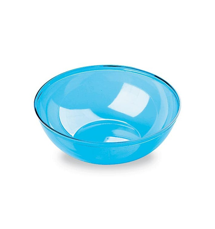 Bol de Plástico Turquesa 400ml 140Ø (4 Uds)