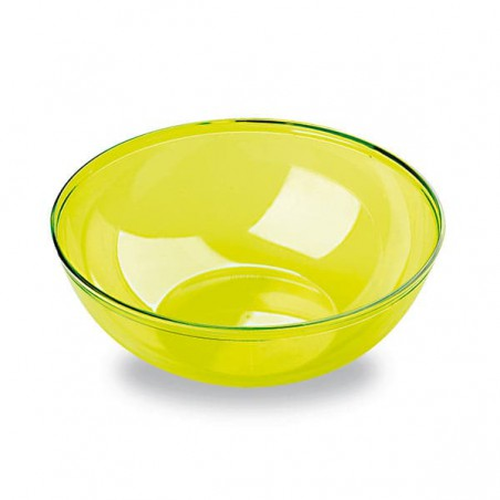 Bol de Plástico Verde 400ml 140Ø (4 Uds)
