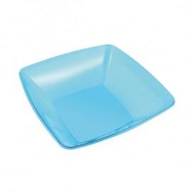 Bol de Plastico Cuadrado Turquesa 14x14cm (60 Uds)