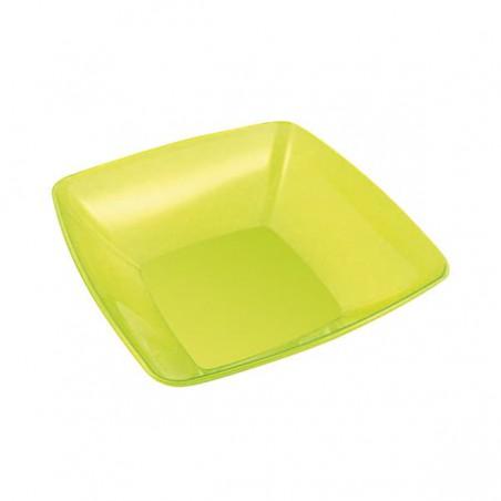 Bol PS Cristal Duro Verde 480ml 14x14cm (60 Uds)