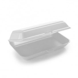 Envase Foam LunchBox Blanco 240x155x70mm (500 Uds)