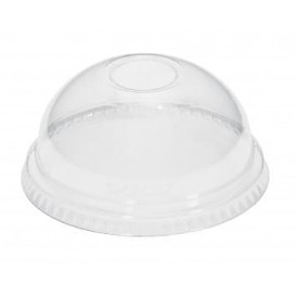 Tapa Cupula sin Agujero Vaso PET 420ml (100 Uds)