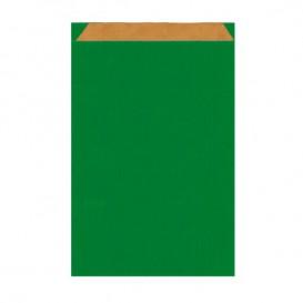 Bolsa de Papel Kraft Verde 12+5x18cm (50 Unidades)