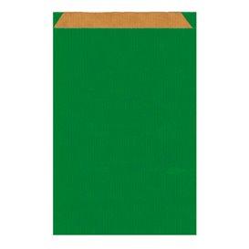 Bolsa de Papel Kraft Verde 26+9x46cm (50 Uds)