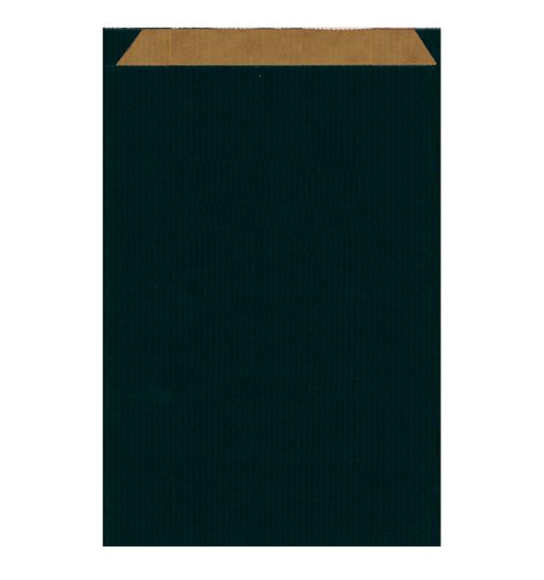 Bolsa de Papel Kraft Negra 26+9x46cm (50 Uds)