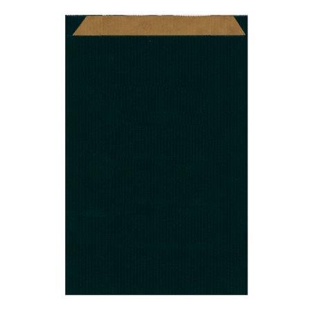 Sobre de Papel Kraft Negra 26+9x38cm (750 Unidades)