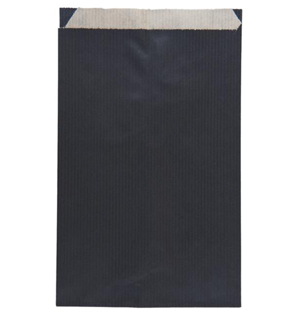 Bolsa de Papel Kraft Negra 12+5x18cm (50 Unidades)