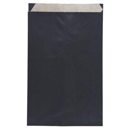 Sobre de Papel Kraft Negra 12+5x18cm (125 Unidades)