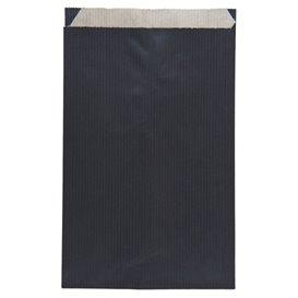 Bolsa de Papel Kraft Negra 12+5x18cm (250 Unidades)