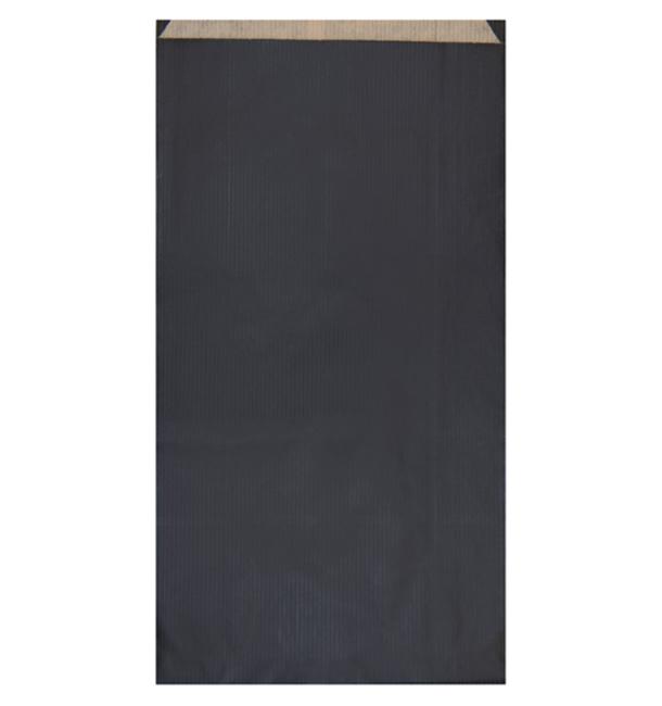 Bolsa de Papel Kraft Negra 19+8x35cm (50 Unidades)