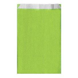 Bolsa de Papel Verde Anis 12+5x18cm (50 Unidades)