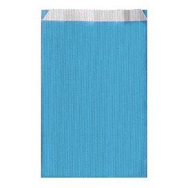 Bolsa de Papel Turquesa 12+5x18cm (50 Unidades)