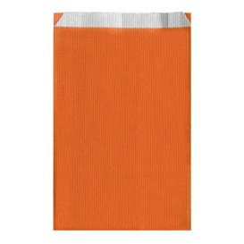 Bolsa de Papel Naranja 12+5x18cm (50 Unidades)