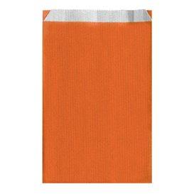 Bolsa de Papel Naranja 19+8x35cm (50 Unidades)