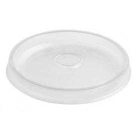 Tapa Plana de Plástico PP Translúcido Ø11,7cm (50 Uds)