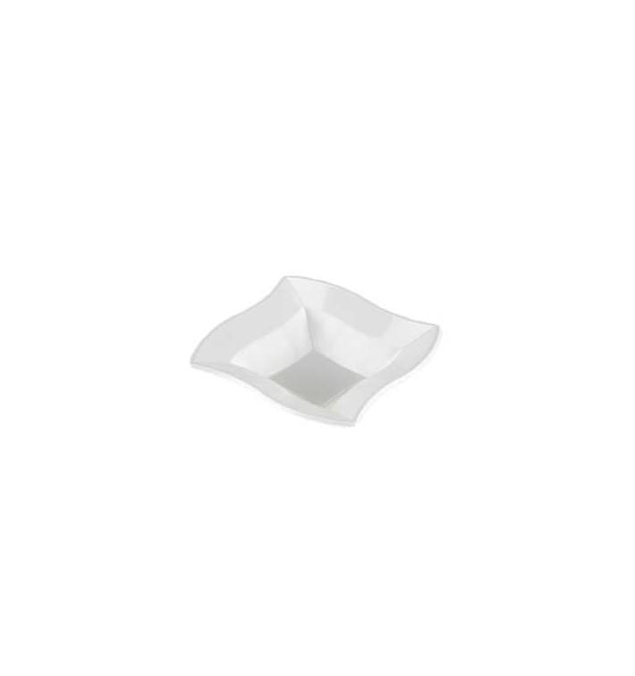 """Bol de Plástico PS Cuadrado """"Ondas"""" Blanco 18x18cm (360 Uds)"""