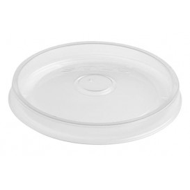 Tapa Plana de Plástico PP Translúcido Ø9,8cm (50 Uds)