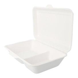 Envase MenuBox Caña de Azúcar 2 Comp. Blanco (1.000 Uds)