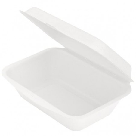 Envase MenuBox Caña de Azúcar Blanco 136x182x64mm (50 Uds)