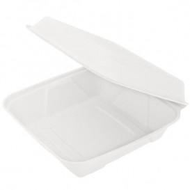 Envase MenuBox Caña Azúcar Blanco 225x225x75mm (50 Uds)