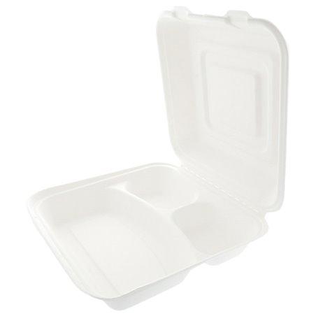 Envase MenuBox Caña Azúcar Blanco 3C 250x250x75mm (50 Uds)