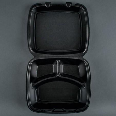 Envase Foam MenuBox 3 C. Negro (200 Uds)