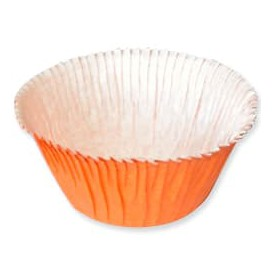 Cápsulas para Cupcakes 4,9x3,8x7,5cm Naranja (500 Uds)