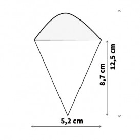 Cucurucho de Bambú 125mm (50 Uds)