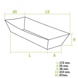 Barqueta Hot Dog 17,0x5,5x3,8cm (600Uds)