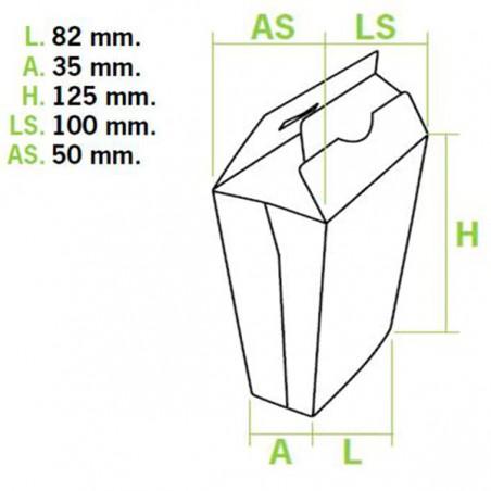 Caja Cerrada para Fritas (450 Uds)