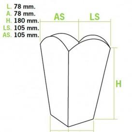 Caja Palomitas Mediana Blanca 90 gr 7,8x10,5x18cm (50 Uds)