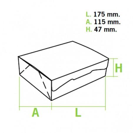 Caja Pasteleria Carton 17,5x11,5x4,7cm 250g. Rosa (5 Uds)