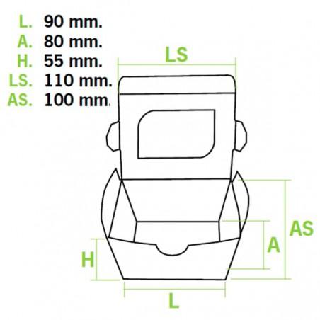 Envase de Carton Premium 11x10x5,5cm 400ml (500Uds)