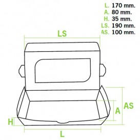 Envase de Carton Premium 19x10x3,5cm 480ml (400 Uds)