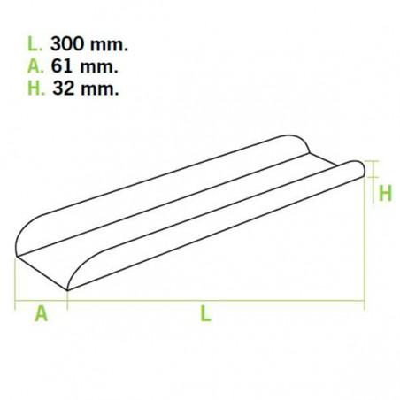 Bandeja Carton Abierta 30x6,1x3,2cm.Rosa (50 Uds)
