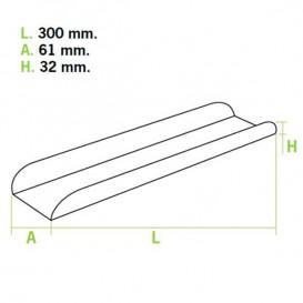Bandeja Carton Abierta 30x6,1x3,2cm.Rosa(1000 Uds)
