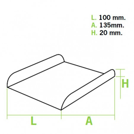 Bandeja de Carton Blanca para Gofres (1500 Uds)