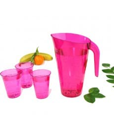 Jarra Plástico Frambuesa Reutilizable 1.500 ml (1 Unidad)