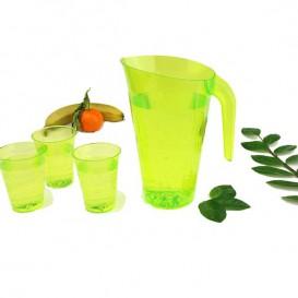 Jarra Plástico Verde Reutilizable 1.500 ml (20 Unidades)