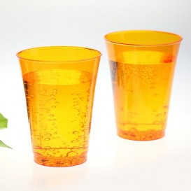 Vaso Inyectado Naranja 230 ml (150 Uds)